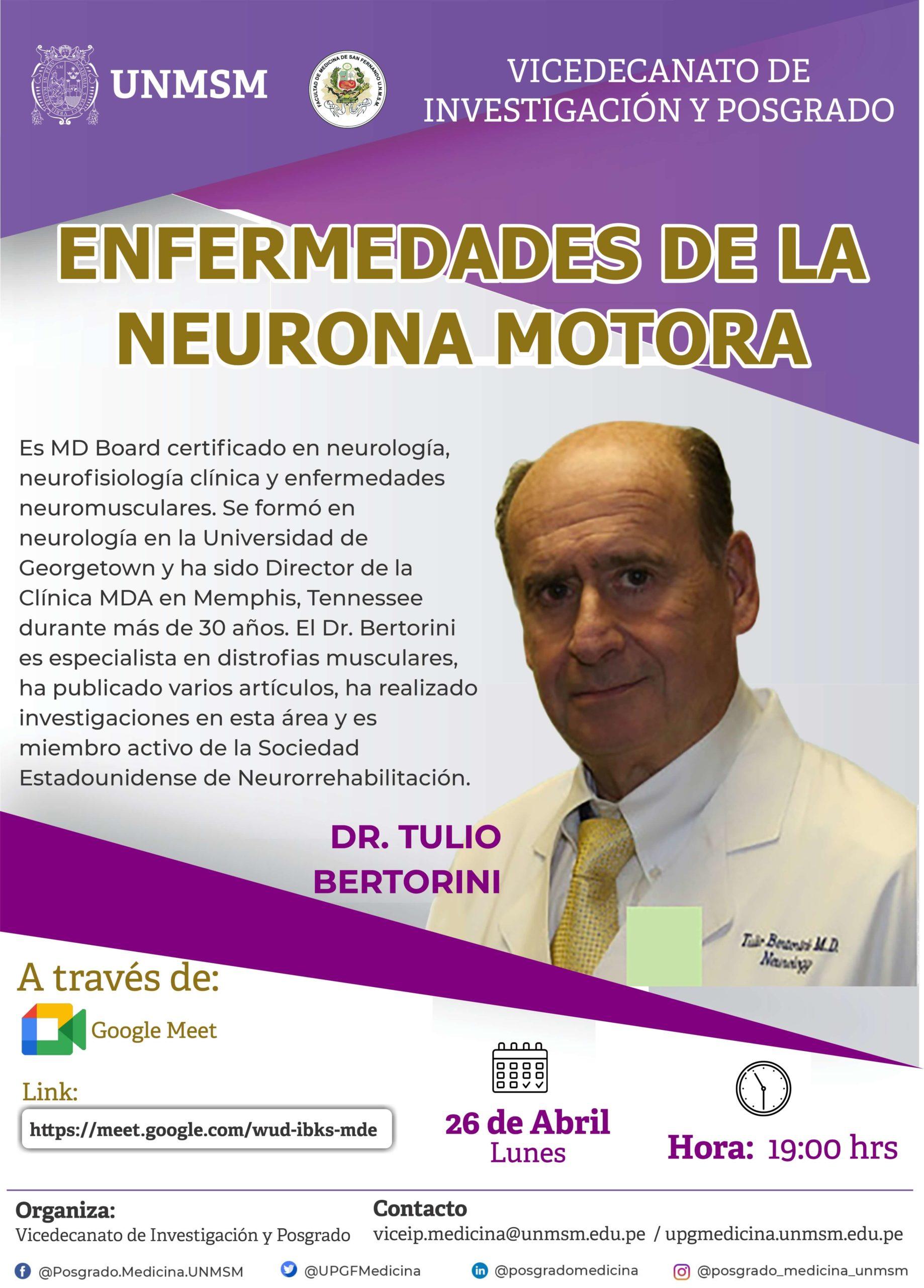 Conferencia de Enfermedades de la Neurona Motora