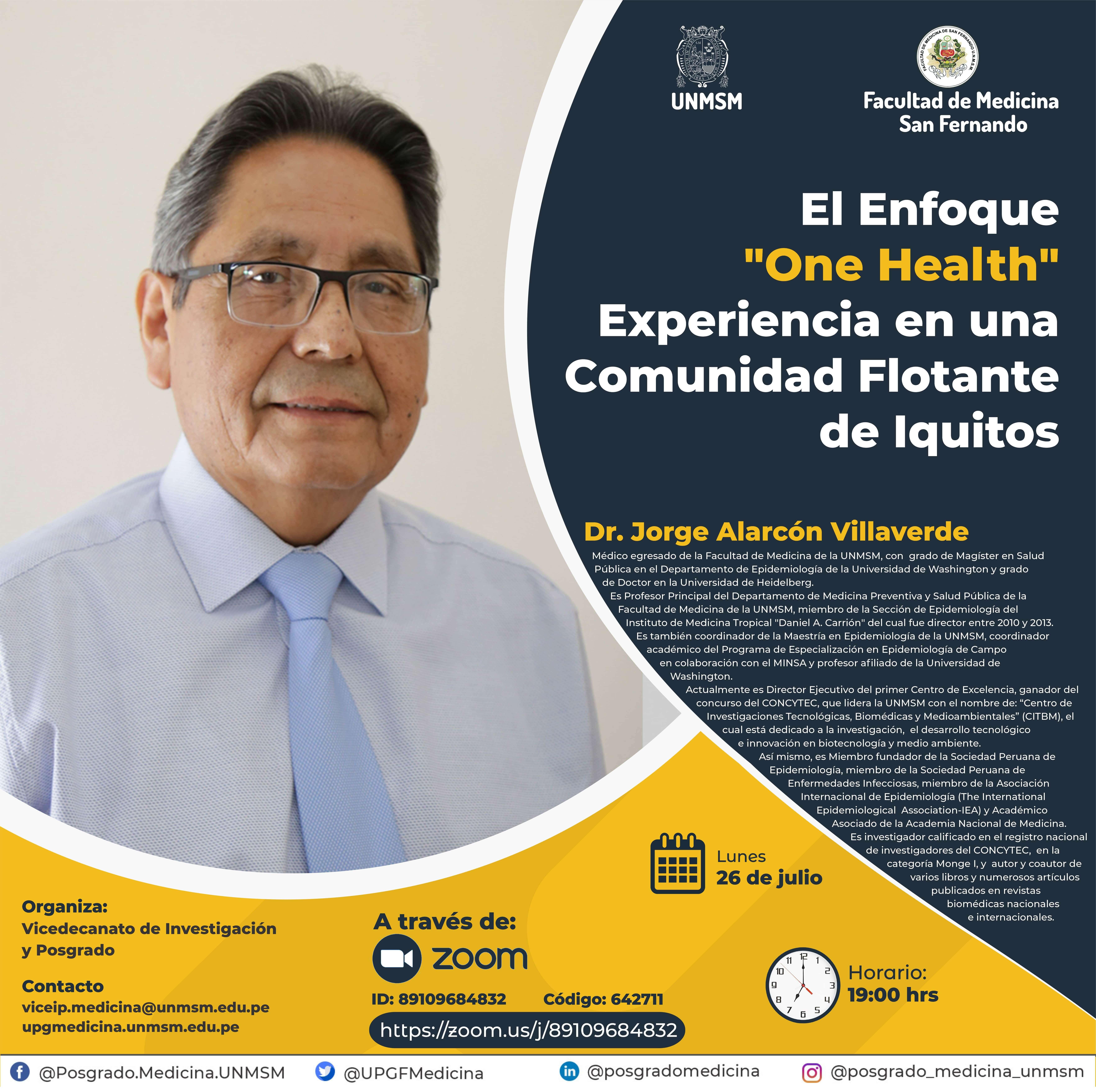 """El Enfoque  """"One Health"""" Experiencia en una  Comunidad Flotante  de Iquitos"""